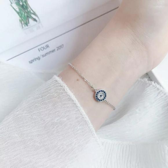 925 starling silver Evil Eye Bracelet